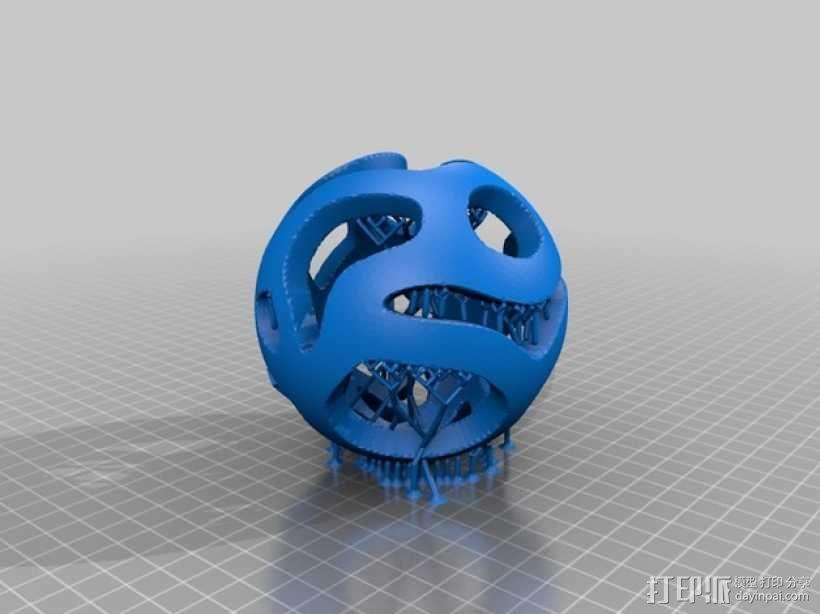 镂空小球 Orbus 3D模型  图6