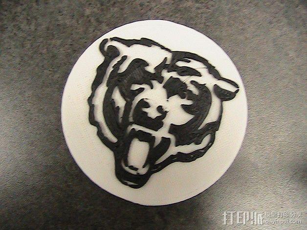 芝加哥熊 标志 3D模型  图1
