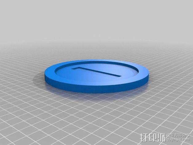 游戏《超级马里奥》钱币装饰品 3D模型  图2