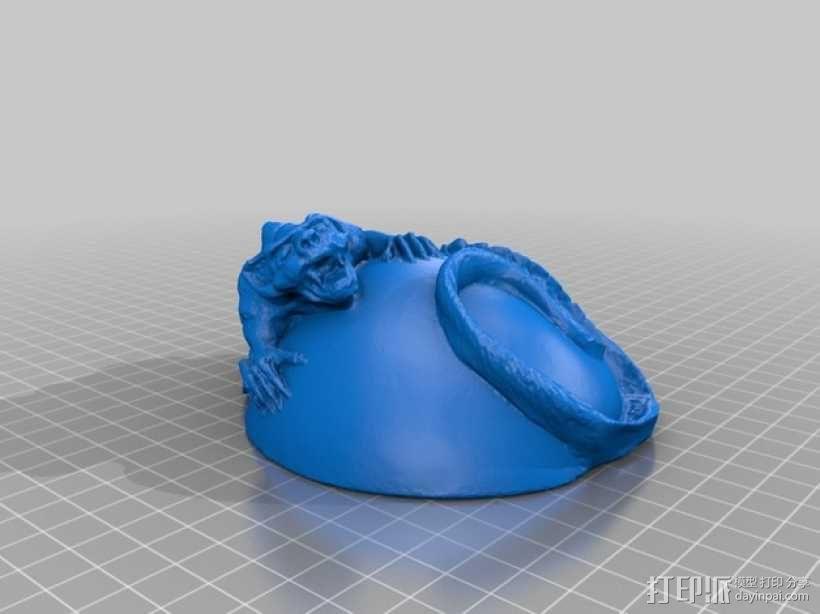蜥蜴 小球 3D模型  图4