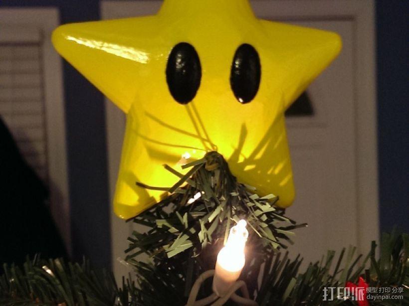 星星 圣诞树顶部装饰  3D模型  图1