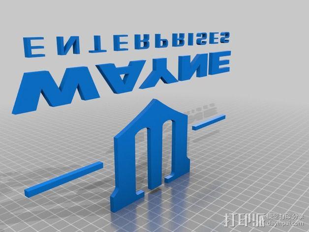 《蜘蛛侠》韦恩集团标志 3D模型  图2