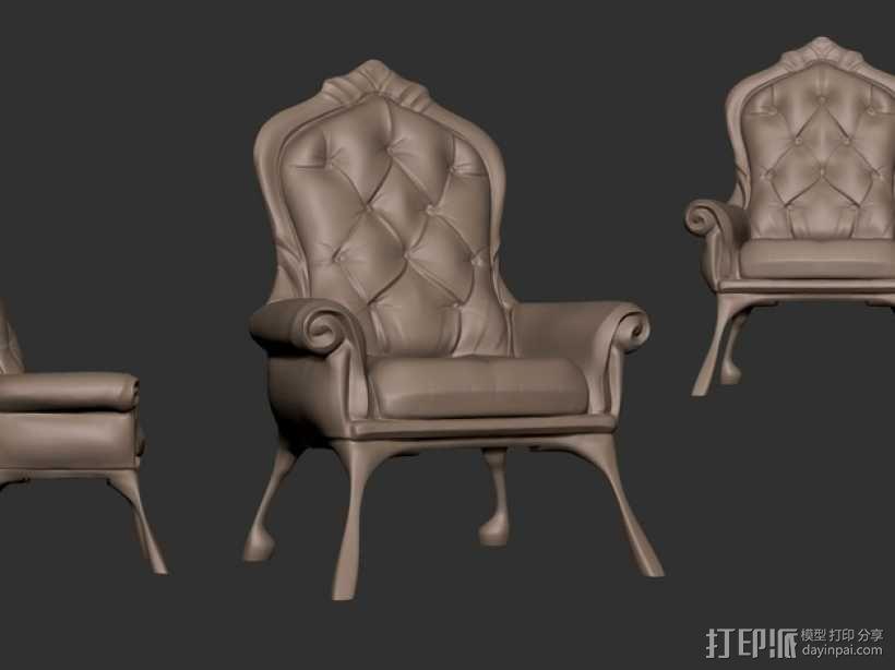 沙发椅 3D模型  图1