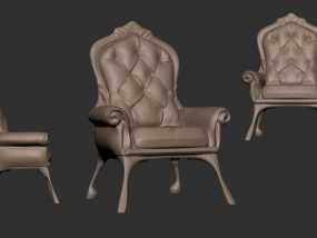 沙发椅 3D模型
