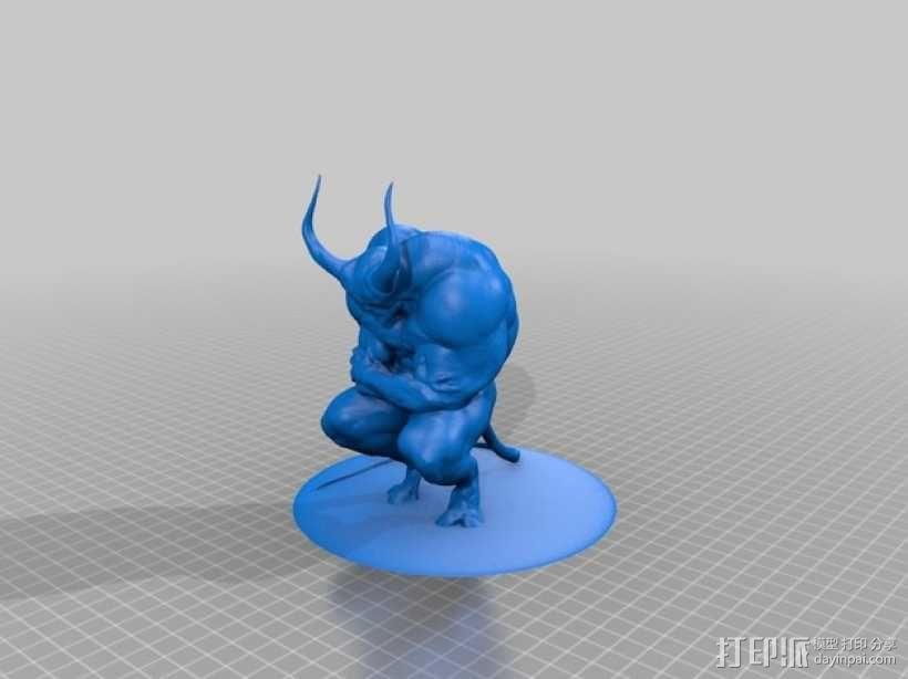 沉思的恶魔 3D模型  图2