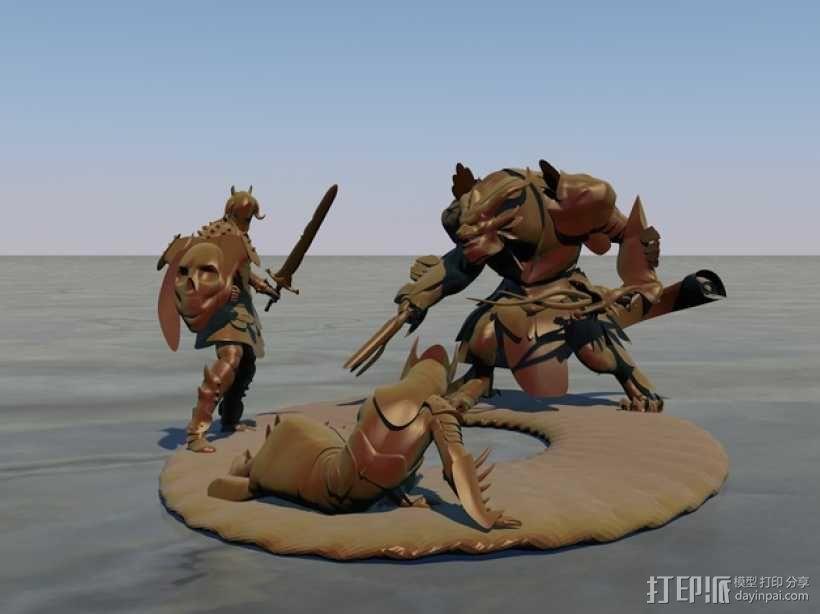 游戏《激战(GuildWars2)》人物 3D模型  图1