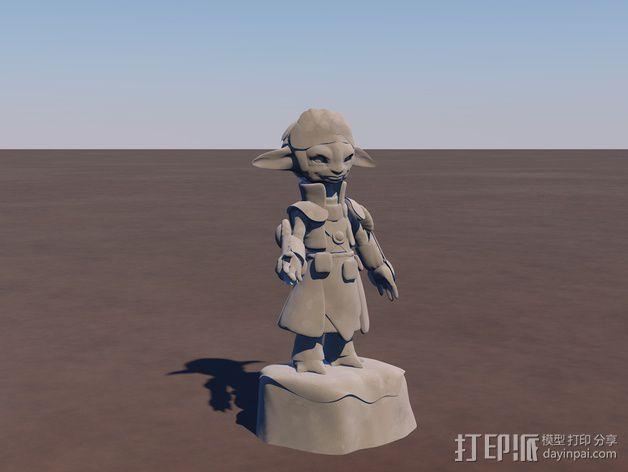 游戏《激战(GuildWars2)》人物Snaff 3D模型  图1