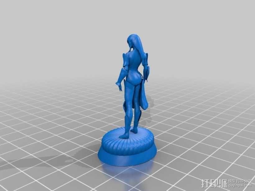 游戏《激战(GuildWars2)》人物 Jora 3D模型  图2
