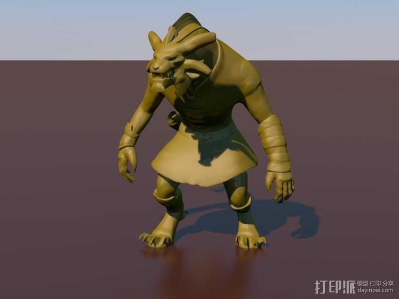 游戏《激战(GuildWars2)》人物 Bronko Grimmflamm 3D模型  图1