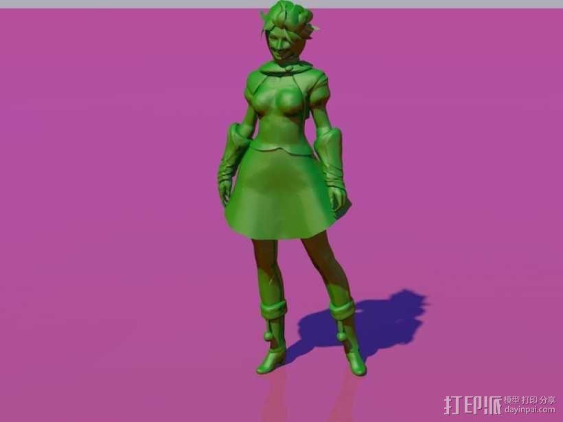 游戏《激战(GuildWars2)》人物 Svilvy 3D模型  图1