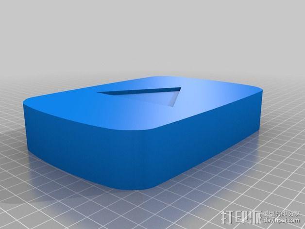 YouTube标识 3D模型  图2