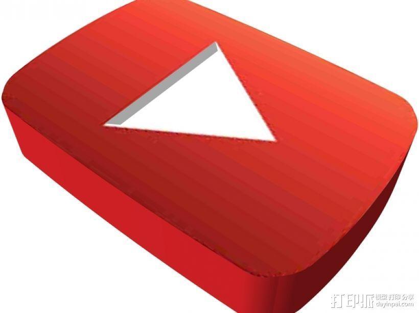 YouTube标识 3D模型  图1