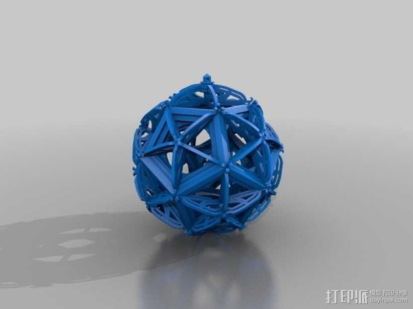 RCS 镂空装饰品 3D模型  图1