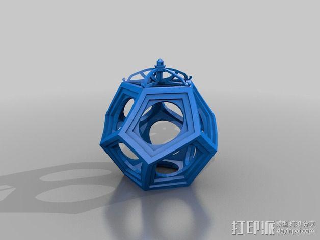 RCS 镂空装饰品 3D模型  图3