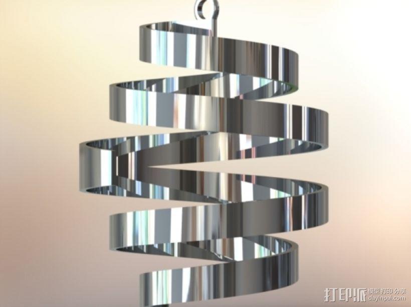 螺旋式圣诞装饰品 3D模型  图1