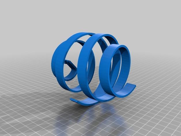 螺旋式圣诞装饰品 3D模型  图3