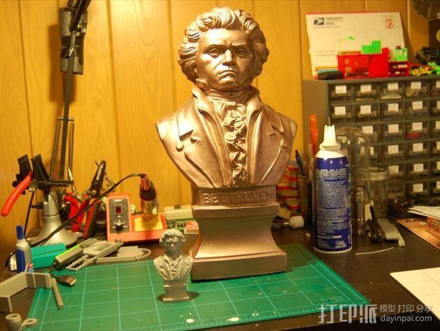 贝多芬 头像 3D模型  图2