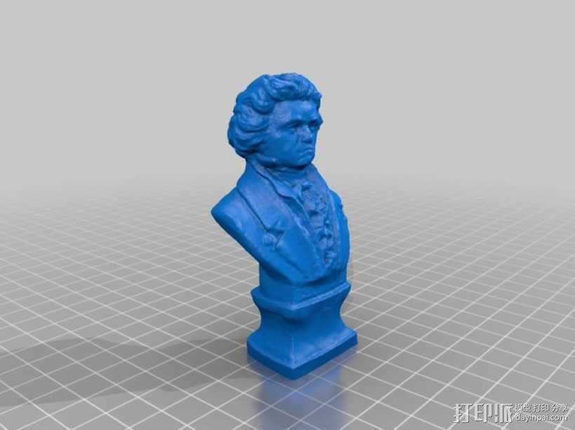 贝多芬 头像 3D模型  图4