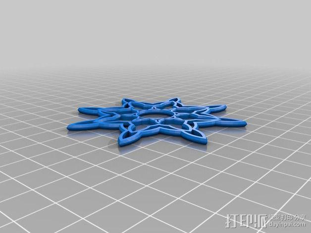 双色雪花 3D模型  图2