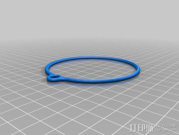 双色雪花 3D模型  图3
