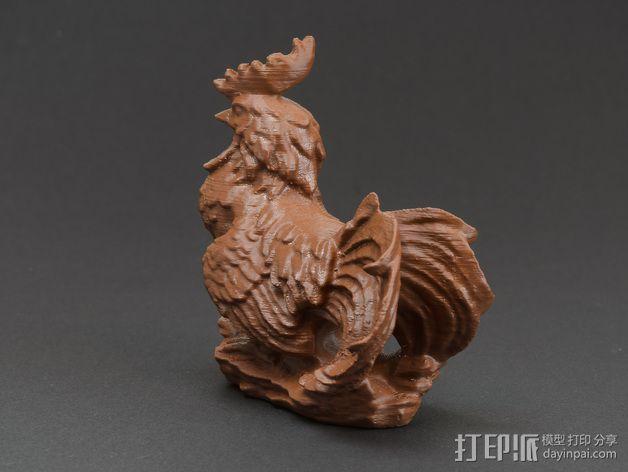 花园公鸡 3D模型  图2