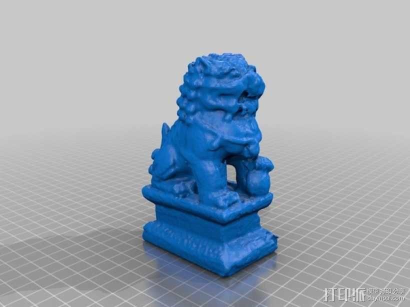 中国石狮子 3D模型  图2