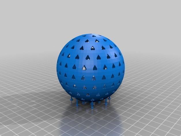 参数化圣诞球装饰品 3D模型  图1