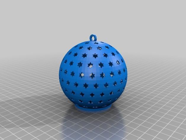 参数化圣诞球装饰品 3D模型  图2