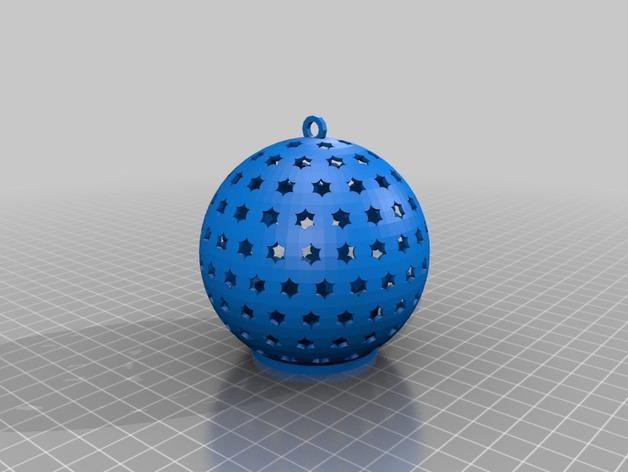 参数化圣诞球装饰品 3D模型  图3