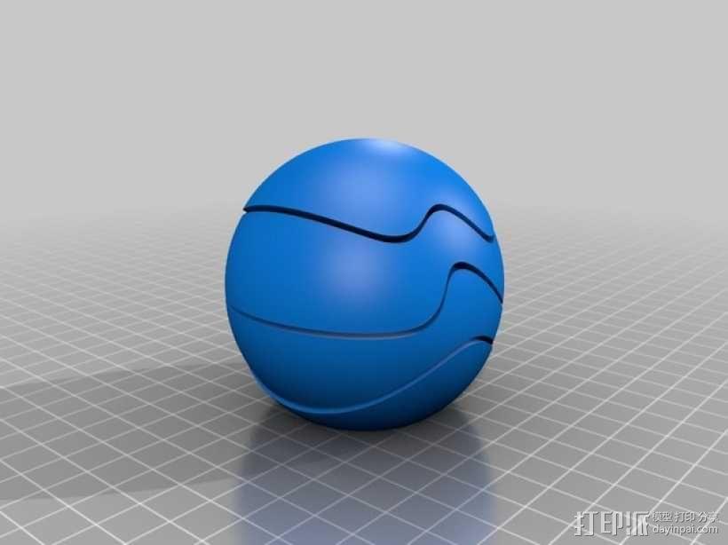 球形拼图 3D模型  图2
