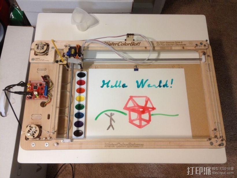 手工绘画机器 WaterColorBot 3D模型  图1