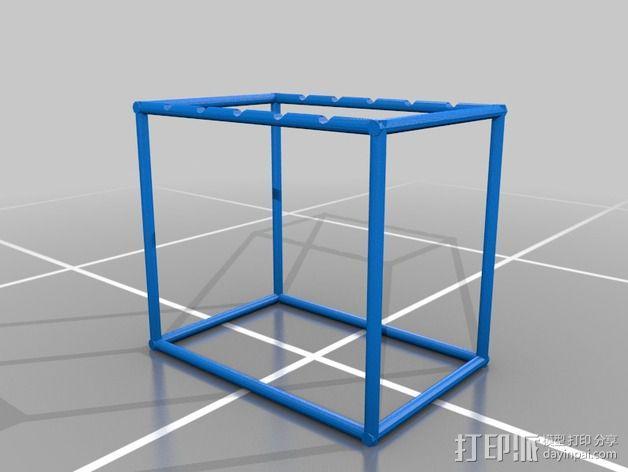 牛顿摆桌面游戏 3D模型  图2