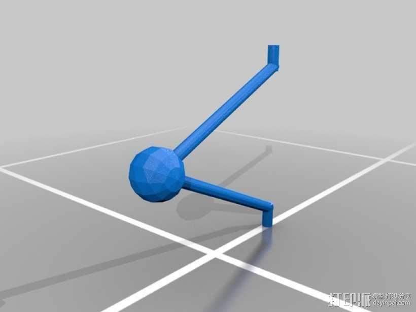牛顿摆桌面游戏 3D模型  图1