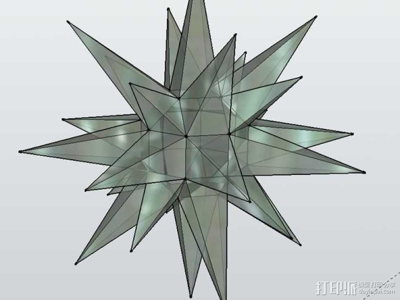 摩拉维亚的星星 装饰品 3D模型  图3