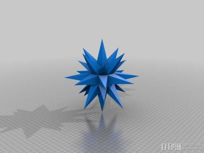 摩拉维亚的星星 装饰品 3D模型  图2