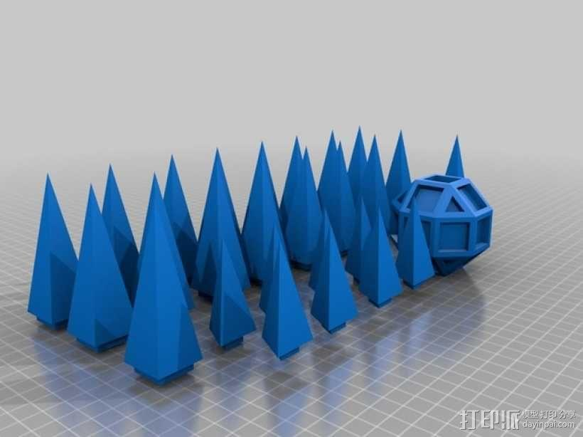 摩拉维亚的星星 装饰品 3D模型  图4