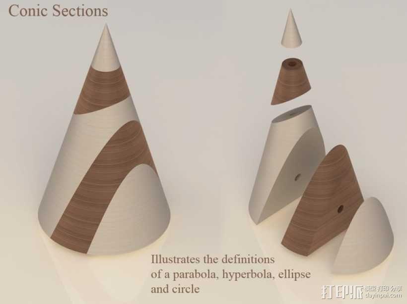 圆锥体 3D模型  图1