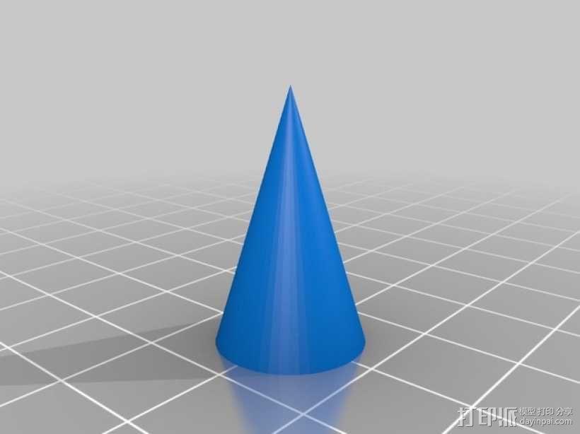 圆锥体 3D模型  图5