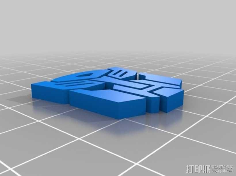 变形金刚 标志 3D模型  图1