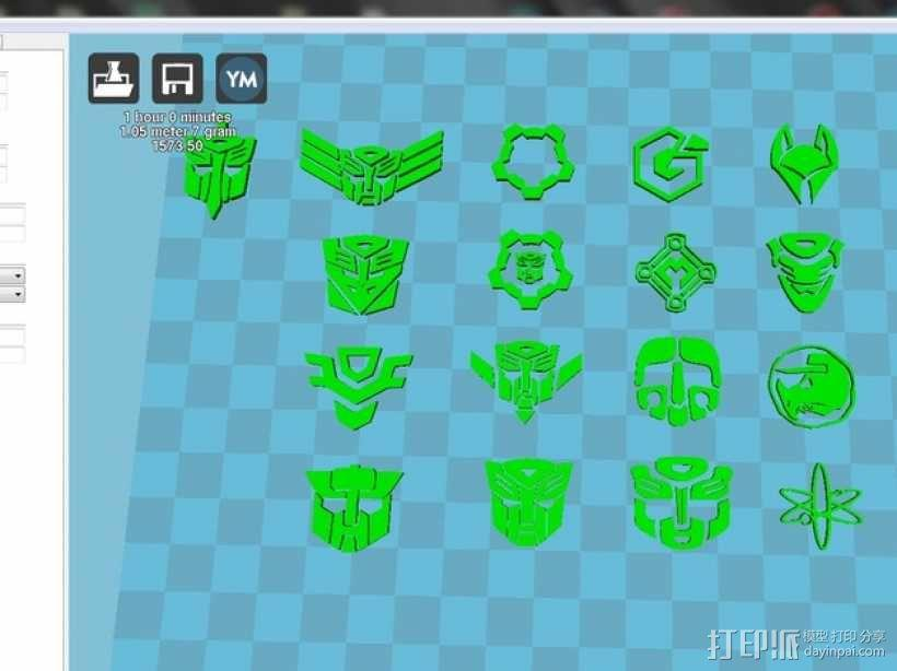 变形金刚 标志 3D模型  图4