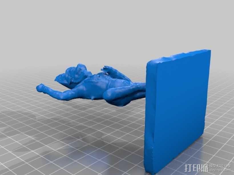 狮面空行母 雕塑 3D模型  图2