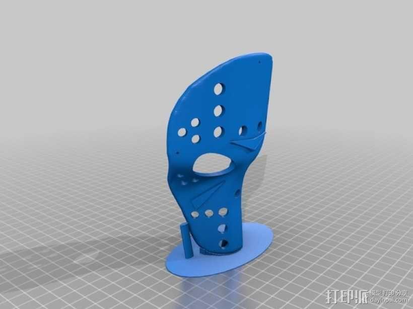 狗狗面具 3D模型  图3