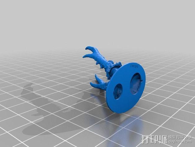 鹿角奖杯 3D模型  图4