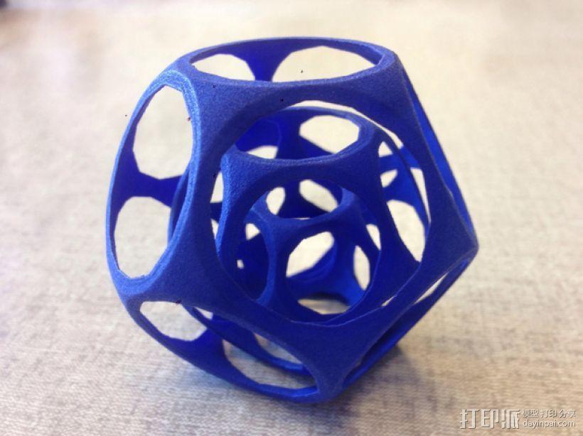十二面体陀螺 3D模型  图1