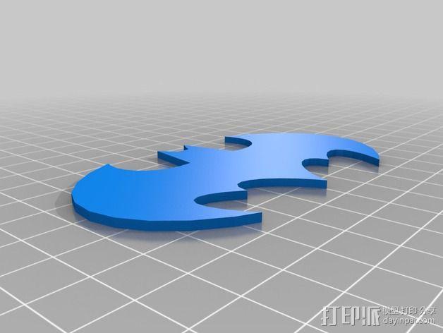 蝙蝠侠 标志  3D模型  图2