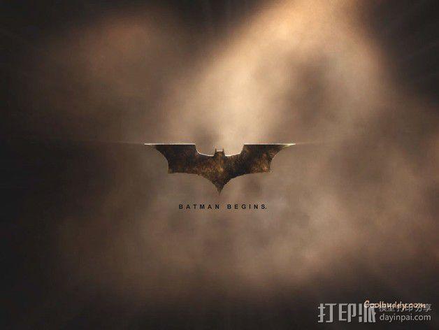 蝙蝠侠 标志  3D模型  图1