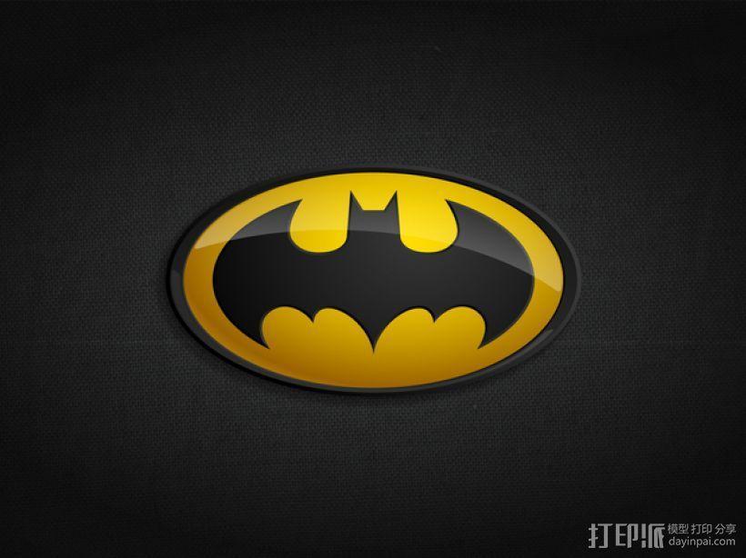 蝙蝠侠 标志  3D模型  图4
