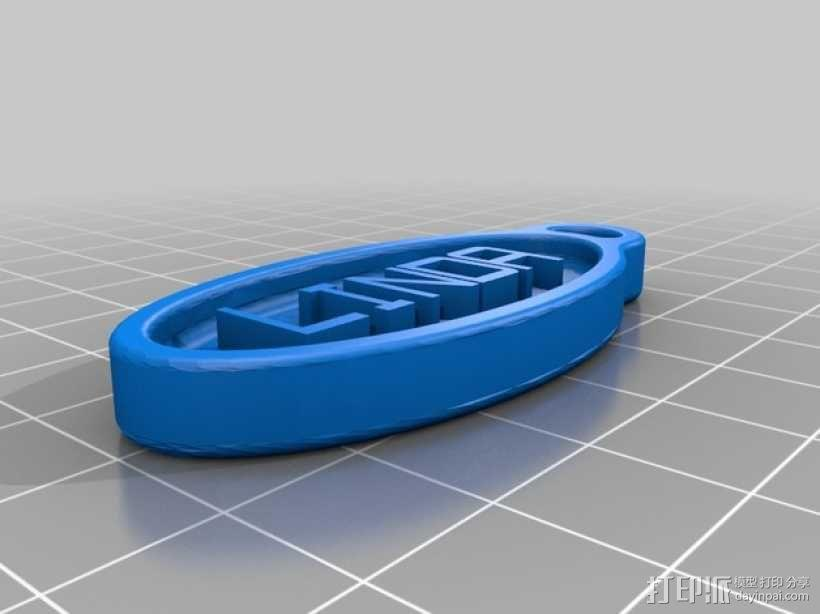 Linda 钥匙扣 3D模型  图1