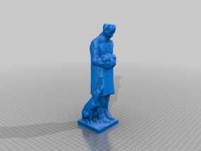 温柔的医生 雕塑 3D模型