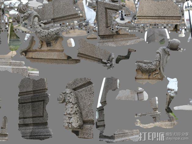 芝加哥格兰特公园雕塑 3D模型  图3